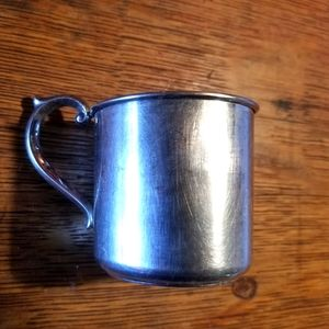 Vtg STERLING SILVER lullaby BABY CUP mug